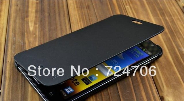 Free shipping High Quality Flip Case For Samsung Galaxy Note leather case,i9220 Case Cover With Retail Package