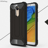 BYHeYang Shockproof Protection Hard Armor Case For Xiaomi Redmi 5 Cover Slim Phone Case On Redmi