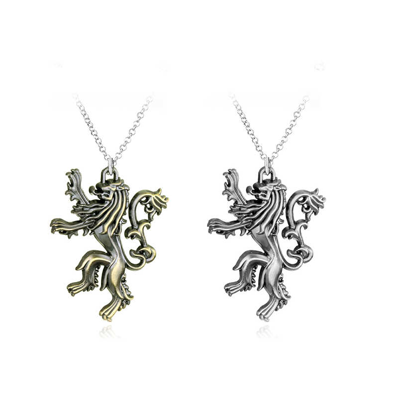 Hot TV Series Game Of Thrones Pendant Necklace House Targaryen Logo Metal Statement Jewelry Gift For Man Women Fans