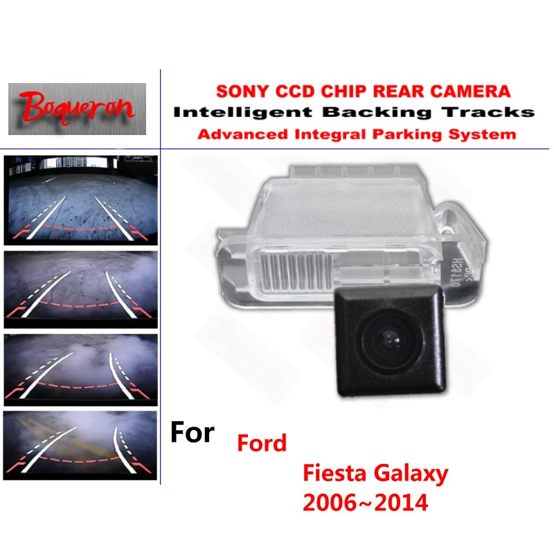 For Ford Fiesta Galaxy 2006~2014 CCD Car Backup Parking Camera Intelligent Tracks Dynamic Guidance Rear View Camera
