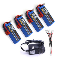 VHO 4pcs SYMA X8 X8C X8C 1 X8W battery 7.4 V 2000mah 2S li po battery + UL charger Spare part Quadcopter Drone helicopter