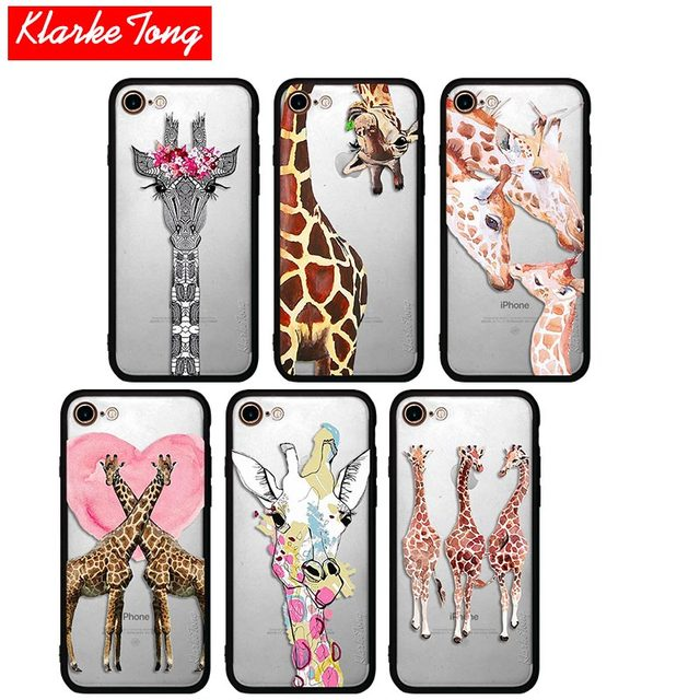 info for 8ca8b 8b913 US $2.32 20% OFF|KlarkeTong Cute Pink Heart Giraffe Case For iPhone 7 6 6s  Plus 5 5s SE Hybrid Silicone Matte Hard PC Protective Phone Back Cover-in  ...