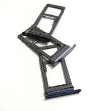 10 قطعة واحدة مزدوجة سيم بطاقة صينية لسامسونج غالاكسي S9 G960 S9 زائد G965 S9 + سيم حامل بطاقة SD فتحة سيم محول استبدال