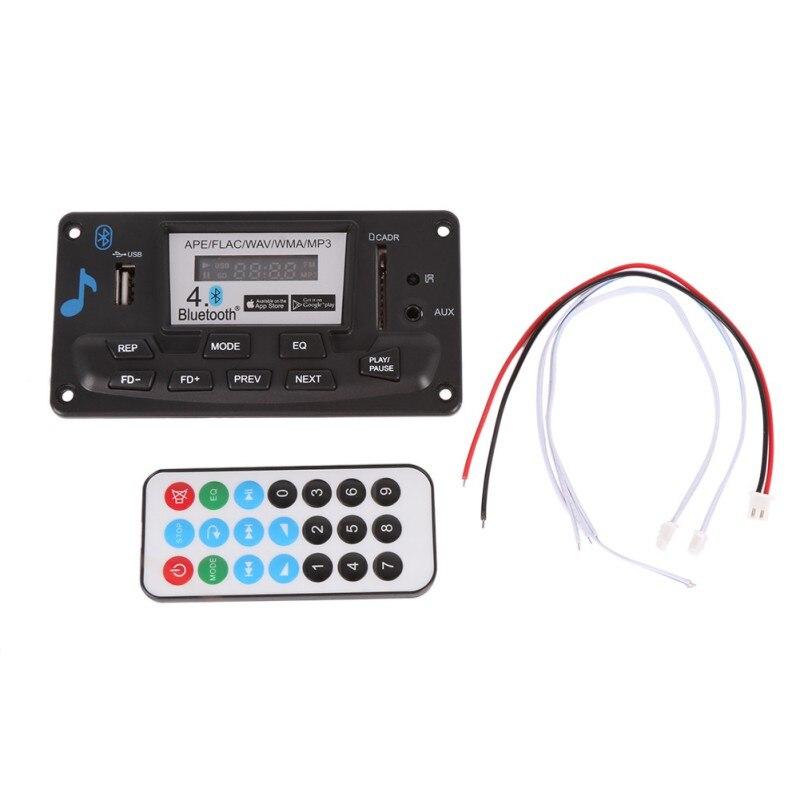 Bluetooth 12V MP3 Decoding Board Module With LED DIY USB/SD/MMC APE FLAC WAV DAE Decoder Record MP3 Player AUX FM Folders Switch