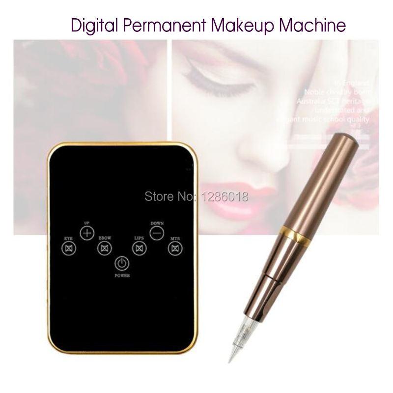 Tattoo Machine Kit set digital Permanent Makeup Tattoo device kit Professional Siwss Motor Tattoo Power Supply