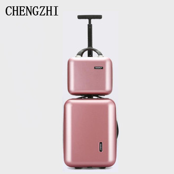 16 inch business small travel suitcase set carry on trolley bag  hand luggage bag on wheels-in Rolling Luggage from Luggage & Bags on Aliexpress.com | Alibaba Group