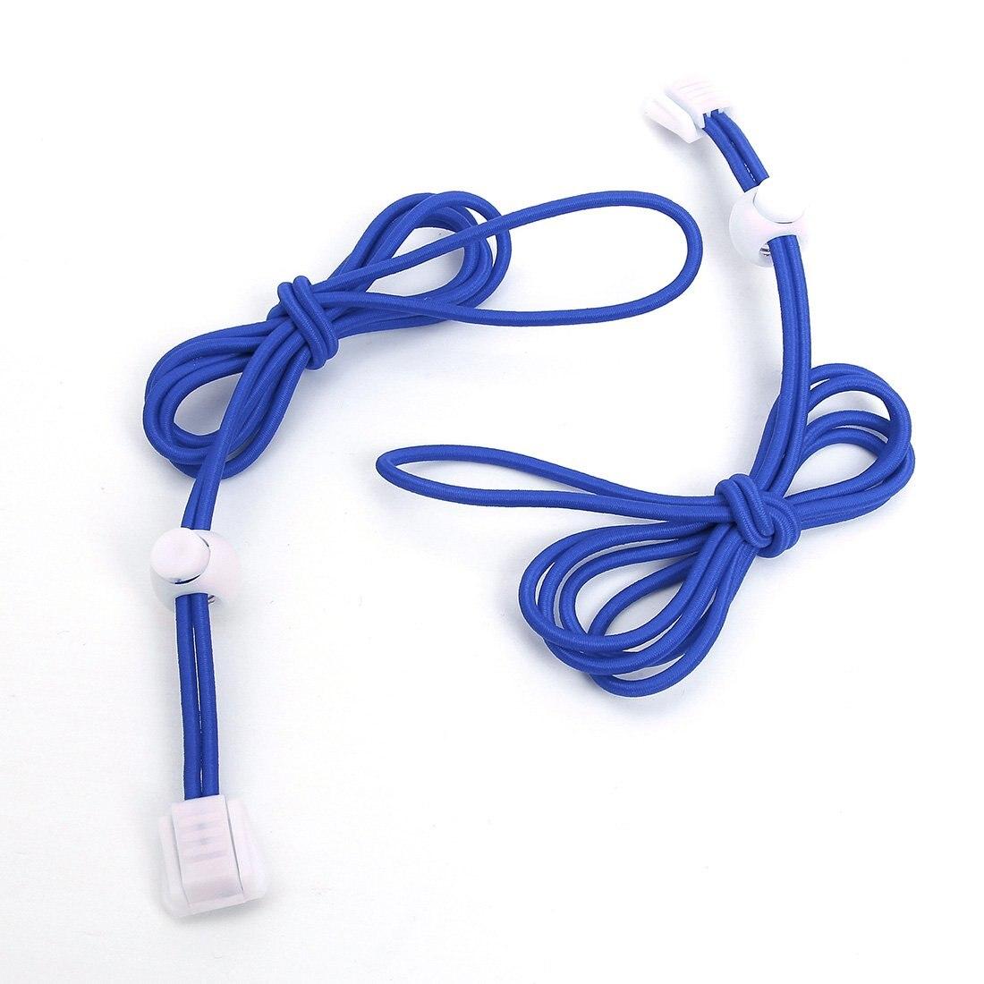 Shoe Laces Elastic Shoelace  s 110cm 1pair Deep Blue