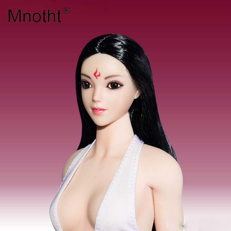 Mnotht Toys 1/6 scale female head sculpt Bratz doll Head Carving Model Fit For OB BJD White Body Model Action Figure Accessories doub k action figure toys artist movable limbs male female 13cm joint body model mannequin bjd art sketch draw figures new style