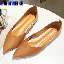 2019 Spring black soft leather shoes women larger sizes 40 b