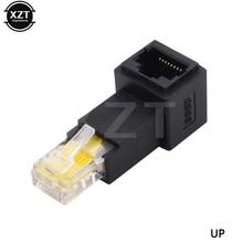 Extensión de red Ethernet macho a hembra, nuevo, arriba abajo en ángulo izquierdo derecho, 90 grados, 8P8C, FTP, STP, UTP, Cat 5e, RJ45, gran oferta