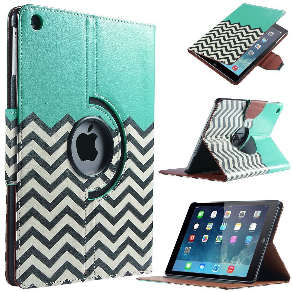 For Apple iPad air Case Smart PU Leather 360 Rotating Waves Flip Stand Funda Cover For iPad 2/3/4 For Mini 1/2/3 For iPad Pro 360 degree rotating flip case cover swivel stand for ipad mini 3 2 1 white