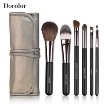 Docolor Professional 6 Pcs Makeup Brushes Tools Make-up Toiletry Kit Wool Brand Make up Brush Set