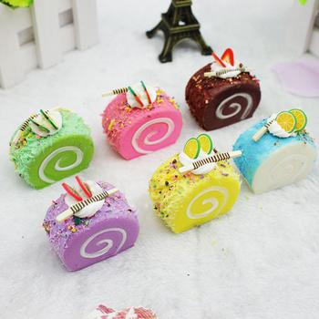 Zabawna sztuczna żywność fałszywe ciasto przyjęcie noworoczne dekoracja domu prezent na baby shower Kids Party dobrodziejstw czarny piątek fotografia żywności tanie i dobre opinie 1 pc Chleb