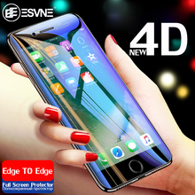 ESVNE NEW 4D Full Cover Edge Tempered Glass For iPhone 6 6s Plus Protection 7 8 X Screen Protector Film