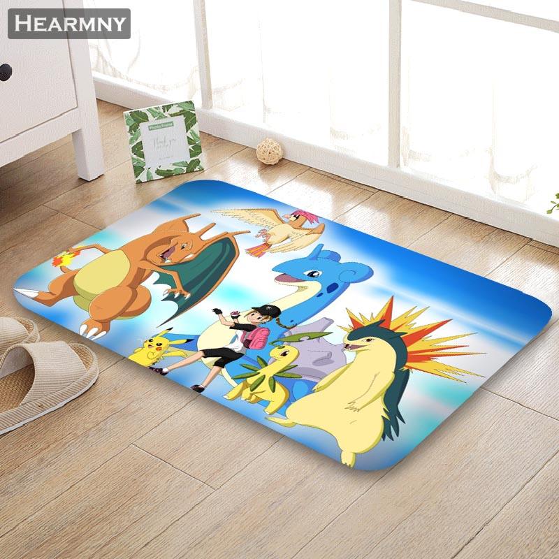 Pokemon Go Ball Non-slip Bath Mat Rug 40X60CM Indoor Outdoor Soft Flannel Carpet