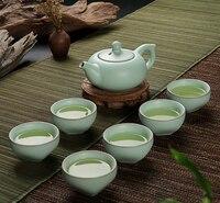 7 sztuk Ru pieca zestaw do herbaty  starożytny chiński królewski specjalne Teaset  kung Fu 6 sztuk kubek herbaty + 1 sztuk czajniczek   porcelanowy kubek z filtrem  serwis do herbaty w Zest. naczyń do herbaty od Dom i ogród na