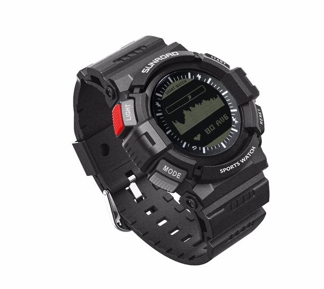Sunroad relógio de pulso monitor de freqüência cardíaca relógio inteligente homens-led pedômetro contador de calorias do relógio rastreador de fitness de carga magnética