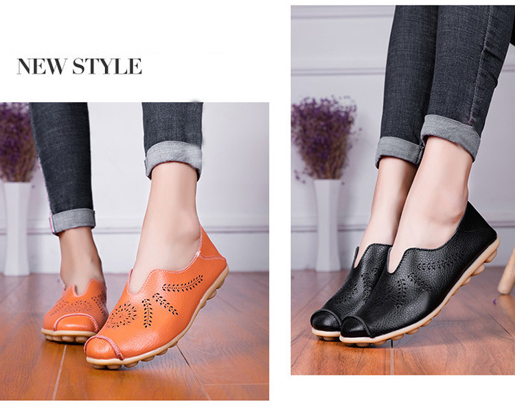 AH 1866-1-2019 Summer Women Loafers Genuine Leather Woman Shoes-8