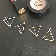 2017 Korean Simple Hollow Triangle Stud Earring for women fashion jewelry Personality Geometric earrings accessories wholesale