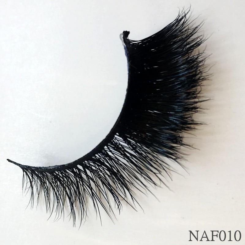 UPS Free Shipping 50pair mink eyelashes natural long 3d false lashes 1cm 1 5cm 3d mink