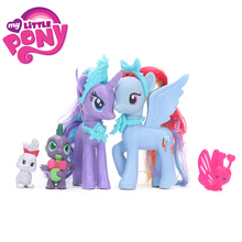 8cm My Little Pony Toys Friendship is Magic Rainbow Dash Twilight Sparkle Pinkie Pie Spike the Dragon PVC Action Figures Dolls