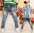 Free shipping children pants new spring handsome boy jeans kids cowboy pants