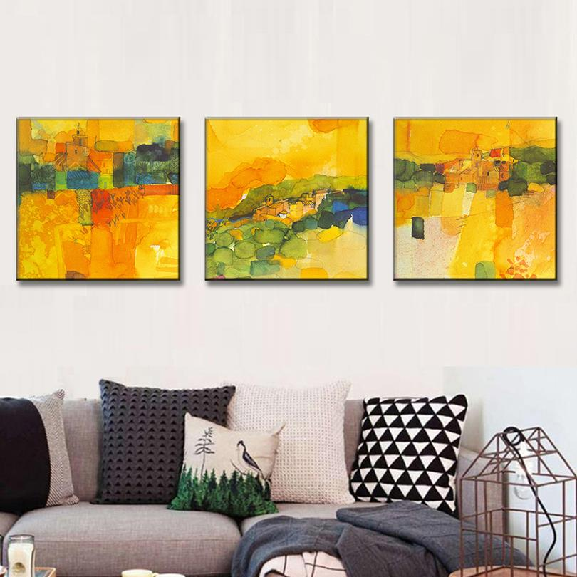 3 Pcs/Set Modern Abstract Oil Painting Office Wall Pictures Canvas ...