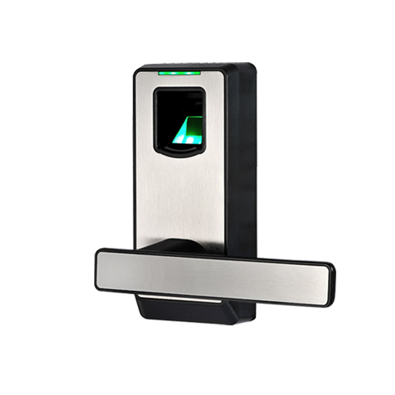 Biometric Fingerprint Door Lock with Mechanical Key Free-style Handle Smart Entry Intelligent Electric Keyless Lock lkPL10