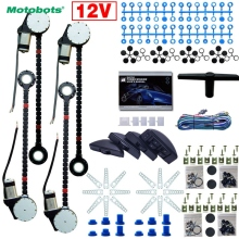 MOTOBOTS 1Set Universal Car/Auto 4 Doors Electronice Power Window kits 8pcs/Set Moon Swithces and Harnessb Cable DC12V