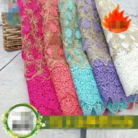 High Quality Water Soluble African Cord Lace Fabric African Guipure Lace For Dress Sewing Options Wedding