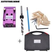 Pocket Hole Jig Fit 9mm Step Drill Bits Wood Project Kits Tools Drill Guide Convenient Use