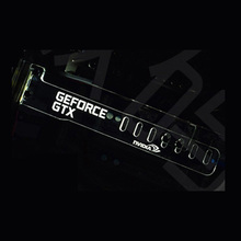 White GeForce GTX LED Luminous Computer Office Main Box HIS Graphics Cards Custom Support Frame Display Card Components Jack