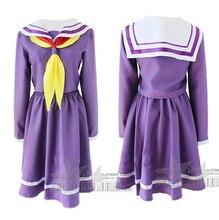 Nuevo Envío Libre El Juego De la Vida No Juego No vida Shiro Cosplay Nogemu Noraifu Kawaii Girls Uniforme de Marinero dress