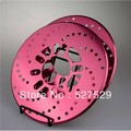 "2pcs 10.1"" Red Disc Vehicle TYPERD ecorative Brake Rotor Cross Drilled Cover"