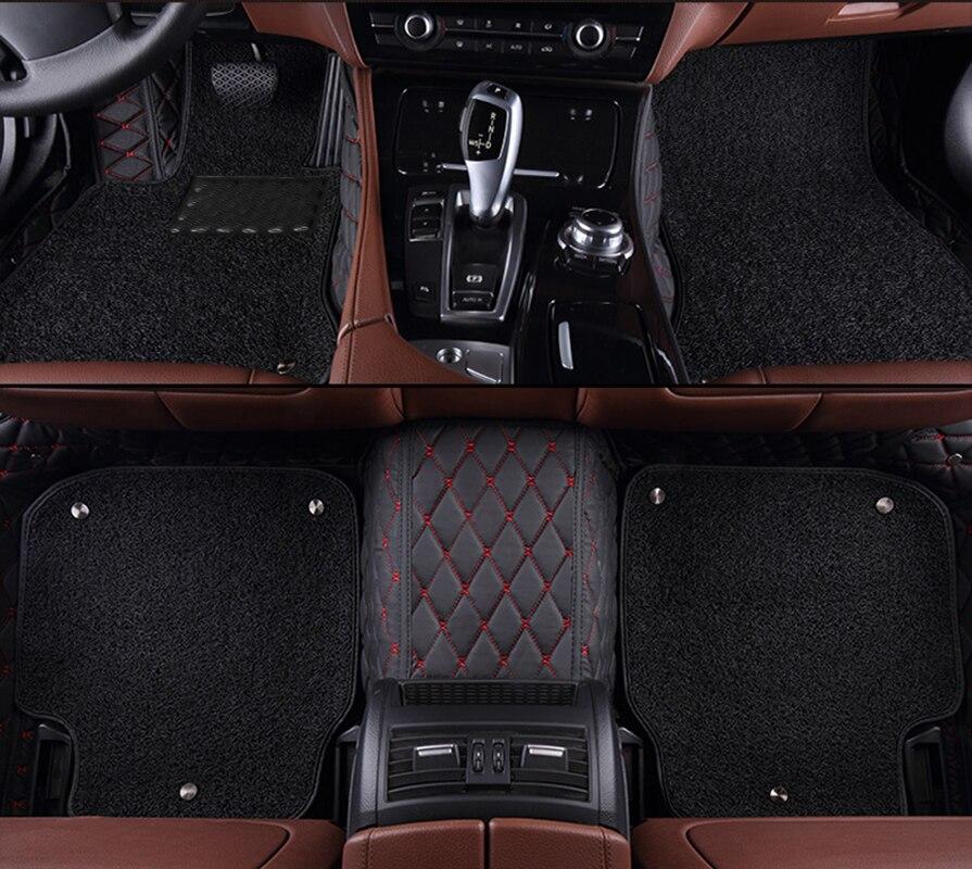 Kalaisike coche personalizado alfombras de piso para Infiniti todos los modelos QX70 Q70L QX50 QX60 Q50 Q60 FX EX JX G M QX50 QX56 QX80 estilo de coche