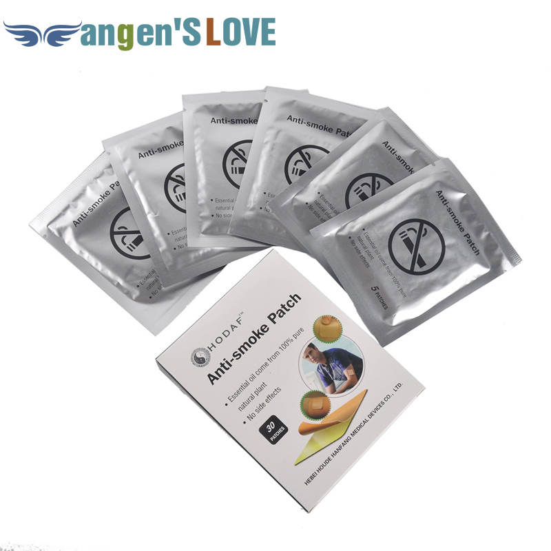 30 Patches 100% Natural Stop Smoking Patches Quit Smoke Plaster New Arrial Stop Smoking Patches Anti-smoke Patch Body Treatment