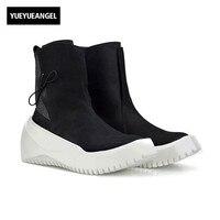 В стиле панк Лидер продаж мужские криперы Ботинки без шнуровки, с круглым носком Мужская обувь зимние высокие обувь Винтаж плюс размер 38 44 ч