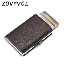ZOVYVOL New Style RFID Card Holder And Minimalist Wallet Metal Men Women Single Box Aluminium Blocking for Cards