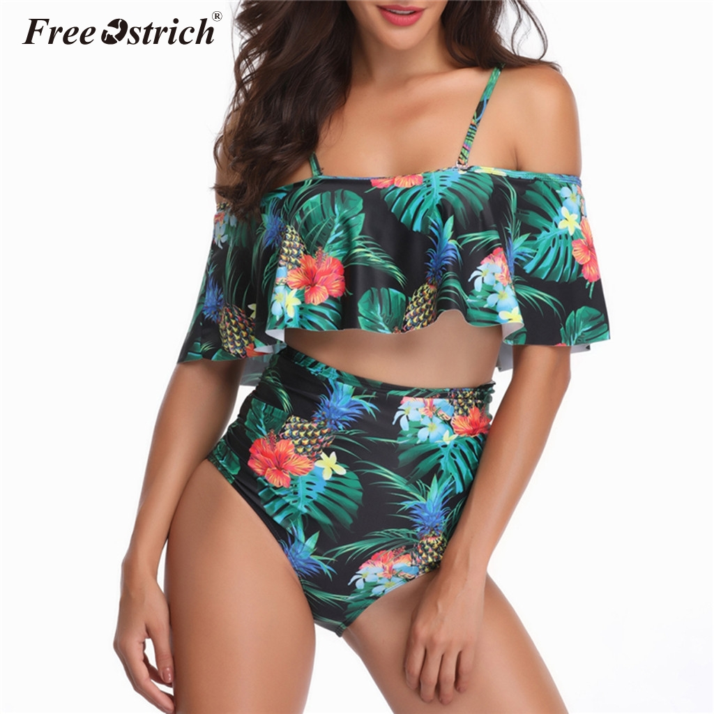 Free Ostrich Wireless Bra Set Push Up Bra Lingerie Sets Soft Underwear Women Ruffles Printed Brand Sexy Bra And Panty Sets N30 image