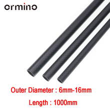 Ormino 3K Carbon Fiber Tube Length 1000mm for Drone diy Quadcopter Frame arm Landing Gear 6mm 8mm 10mm 12mm 14mm 15mm 16mm Drone 1pc plant protection drone anti virtual folding arm tube d30mm horizontal foldable frame arm for 30mm carbon pipe connector