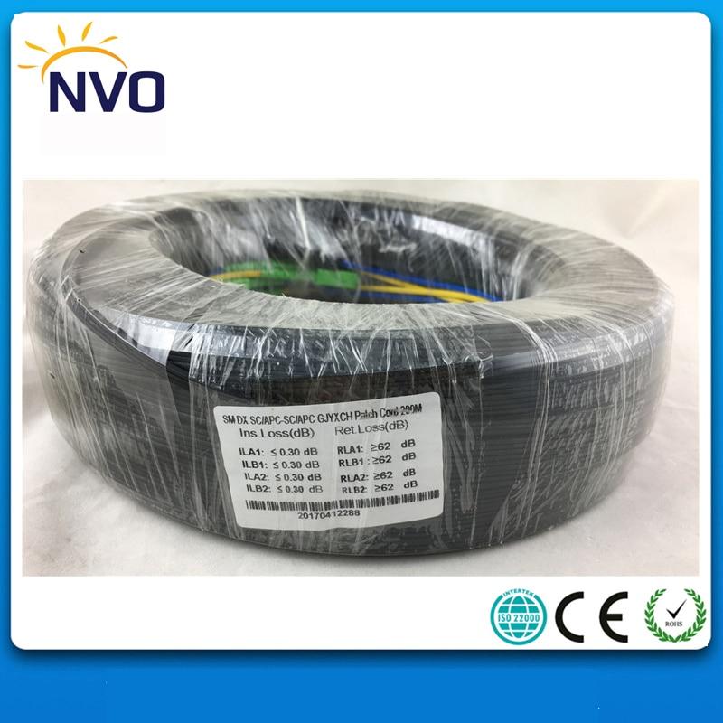 350M Outdoor FTTH Fiber Optic Drop Cable Patch Cord GJYXCH SC/UPC to SC/UPC Duplex SM G657A2 LSZH 4cores Drop Cable Patch Cord
