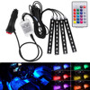 Colorful Wireless Remote Music Voice Control Car RGB LED Neon Interior Light Lamp Strip Decorative Lights