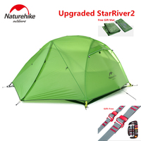 Starriver2 20D Silicone Fabric Waterproof Double Layer 2 Person 4 Season Aluminum Rod Outdoor Camping Tent