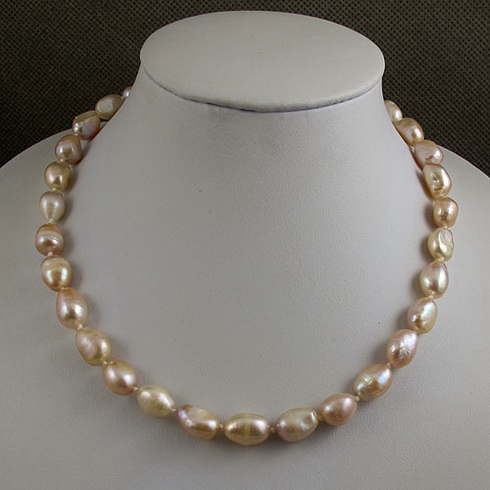 Unique Pearls jewellery Store,45cm AA 8-9MM Purple Rice Freshwater Pearl Necklace,Charming Women GiftUnique Pearls jewellery Store,45cm AA 8-9MM Purple Rice Freshwater Pearl Necklace,Charming Women Gift
