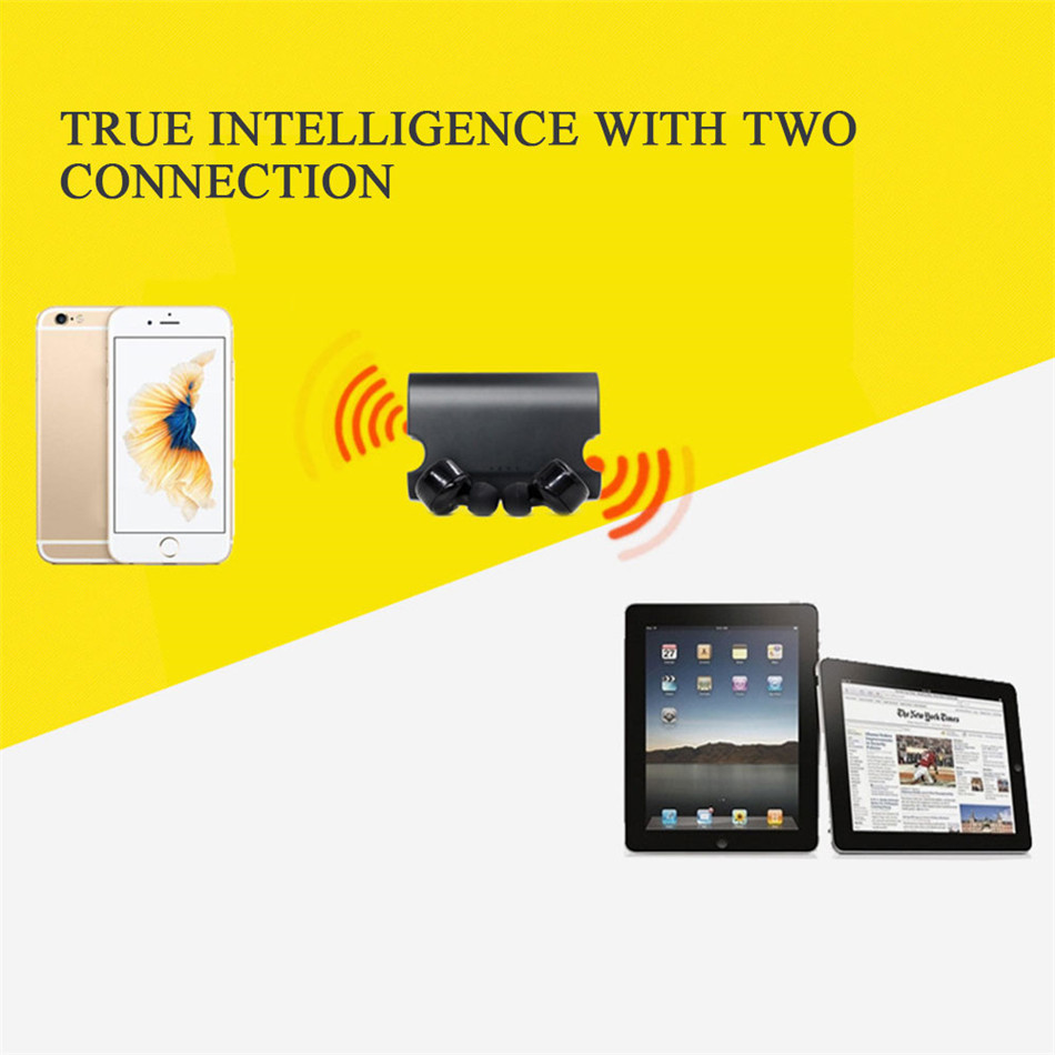 New Portable True Wireless Earbuds TWS X2T Mini Headphone Bluetooth 4.2 Earphone 1500mAH Charger Box for iphone and andriods