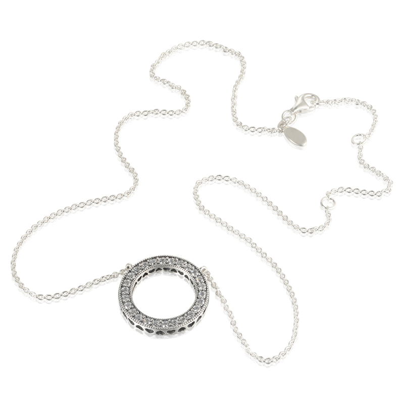 Hearts of pan pave cz round pendant necklace chain length 45cm 925 hearts of pan pave cz round pendant necklace chain length 45cm 925 silver jewelry pendant necklace aloadofball Gallery