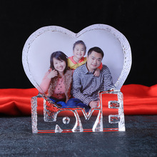 Customized Romantic Crystal Photo Frame Personalized Glass Picture Love Gifts DIY Wedding Souvenir