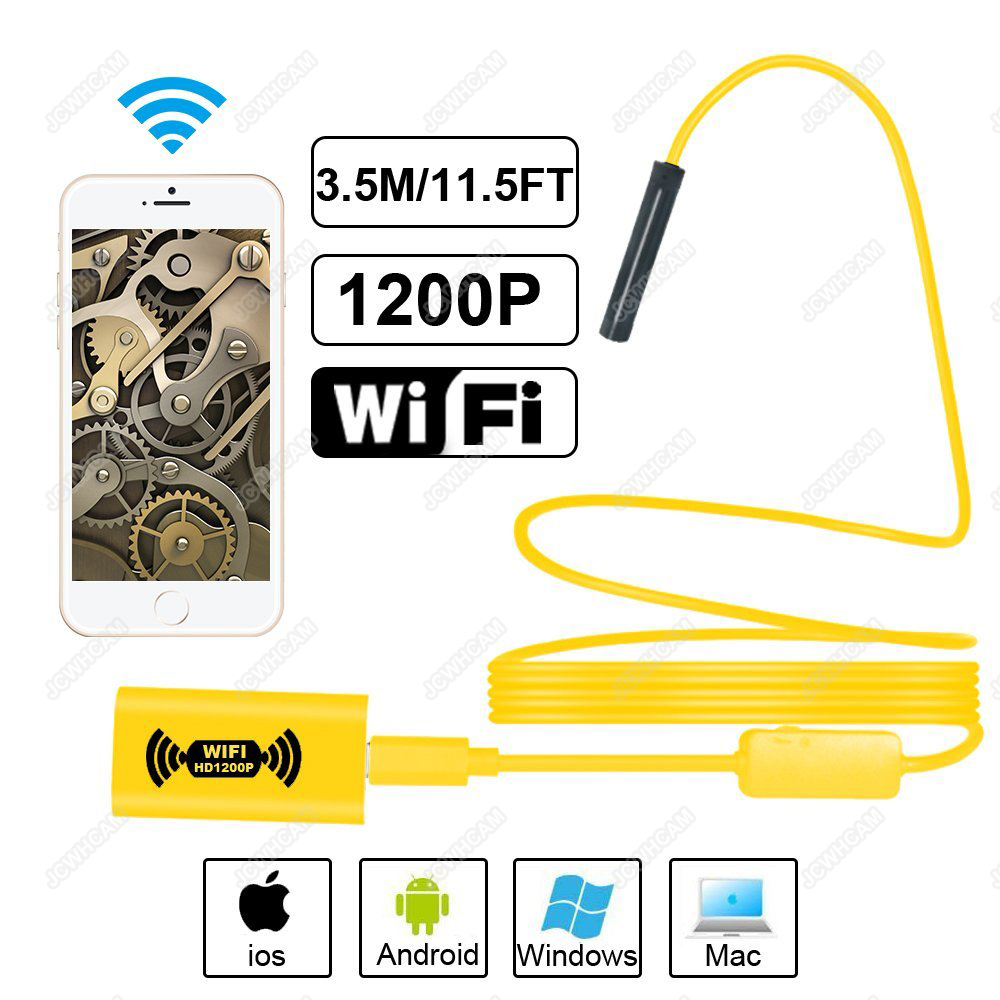 HD 1200P Waterdichte WIFI Inspectie Mini endoscoop camera Borescope - Camera en foto - Foto 1
