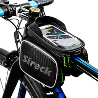 Sireck Touchscreen MTB Bike Bag Waterproof Cycling Frame Tube Bag Bicycle Accessories Bolso Bicicleta Phone Bag