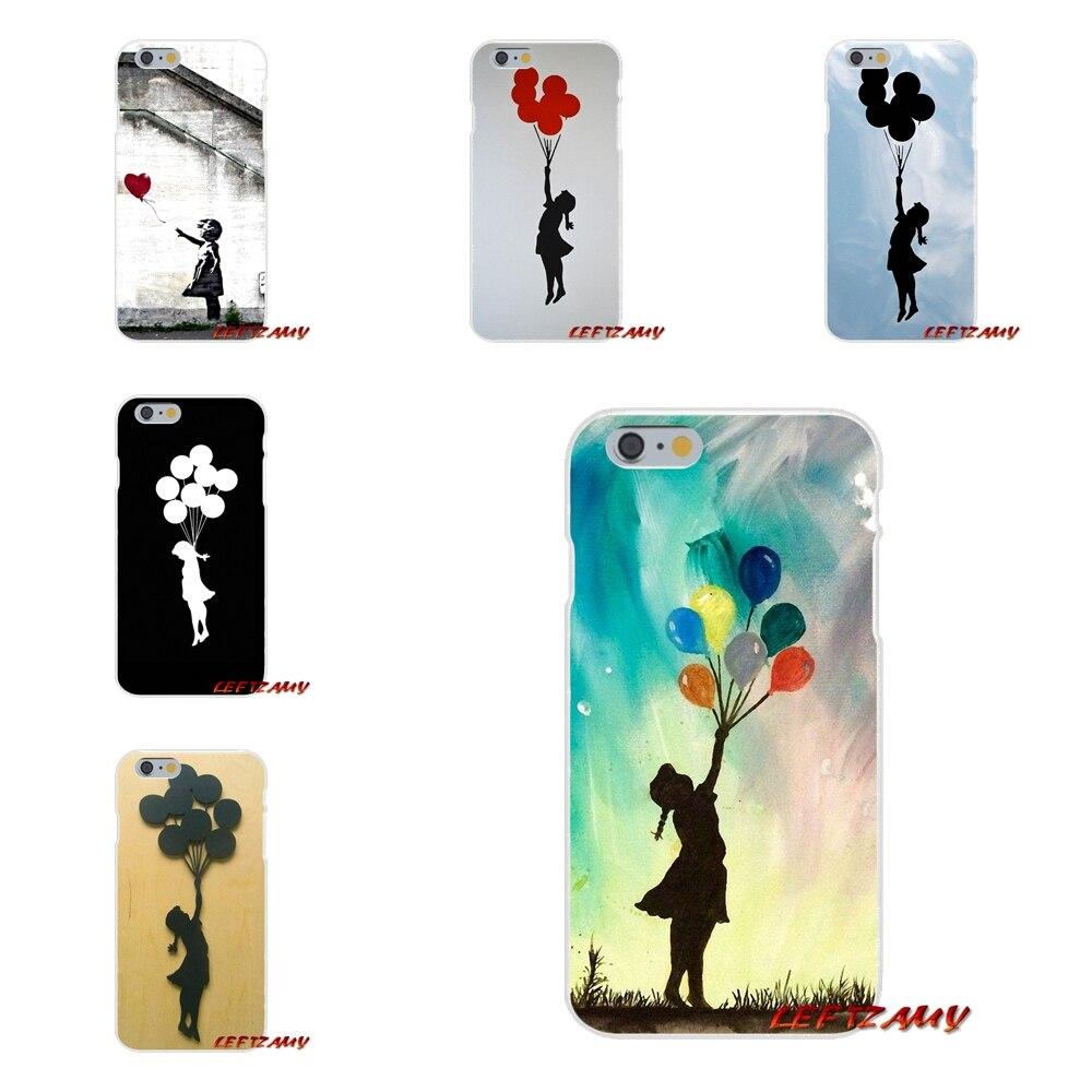 Custom Banksy Balloon Girl On Wall Mobile Phone Cover Bag For Xiaomi Redmi 3 3S 4A 5A Pro Mi4 Mi4C Mi5S Mi6X Mi Max2 Note 3 4 5A
